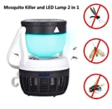 ALUNAR LED Mosquito Killer Lamp Insect Repellent Bug Fly Zapper Trap Pest Control Night Light Portable Hook Tent Camp Fish Lantern UV Light Bulb USB Home Office Garden Patio Yard (2 in 1 LED)