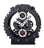Double Gear Hollow Clock Creative Decoration Alarm Clock Mechanical Appearance Gear Simple Desk Clock
