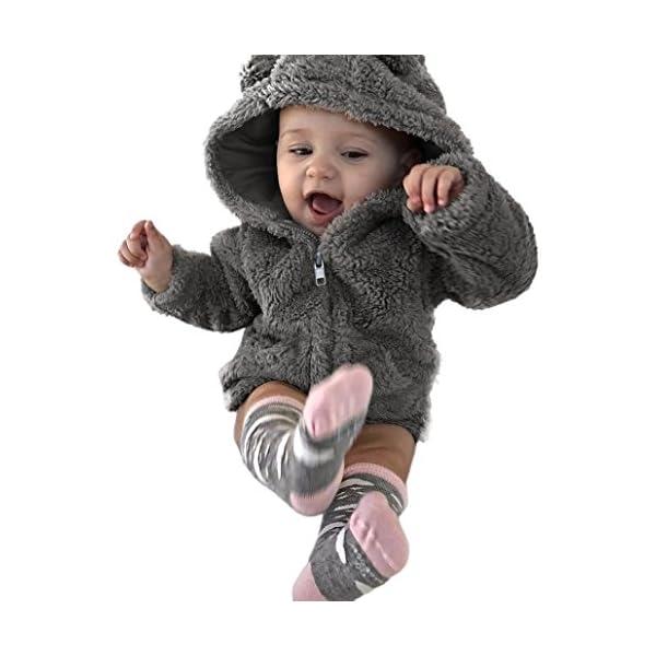 08b7a183b WARMSHOP Baby Boys Girls Fur Hoodie Winter Warm Coat Jacket Cute ...