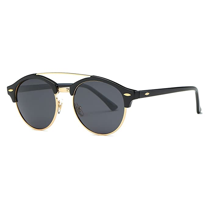 Amazon.com: AEVOGUE AE0504 lentes de sol polarizadas retro ...