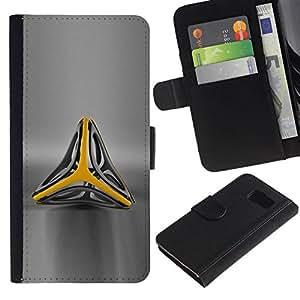 All Phone Most Case / Oferta Especial Cáscara Funda de cuero Monedero Cubierta de proteccion Caso / Wallet Case for Samsung Galaxy S6 // Abstract Triangle Sign