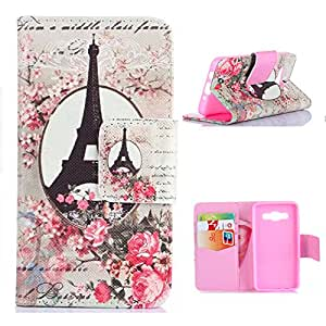 Galaxy G3500 Leather,Candywe Beautiful Picture Wallet Style Leather Case Cover For Samsung Galaxy Core Plus G350/Trend 3 G3502 G3508 015