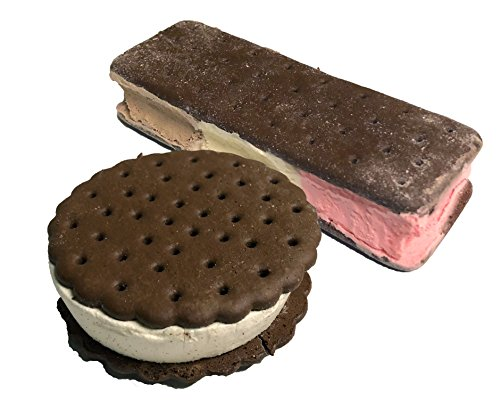 MY Freeze Dried Ice Cream Food - 2 Pack - 1 Neapolitan & 1 Ice Cream Sandwich