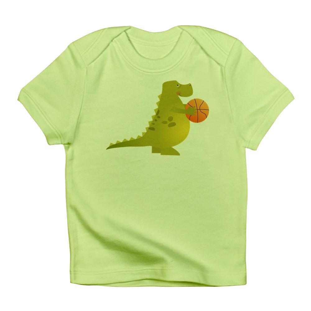 Truly Teague Infant T-Shirt Basketball Playing Dinosaur Kiwi 12 To 18 Months