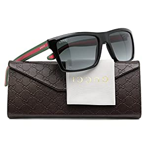 GUCCI GG1013/S Men Sunglasses Shiny Black w/Grey Gradient (051N) 1013/S 51N PT 56mm Authentic