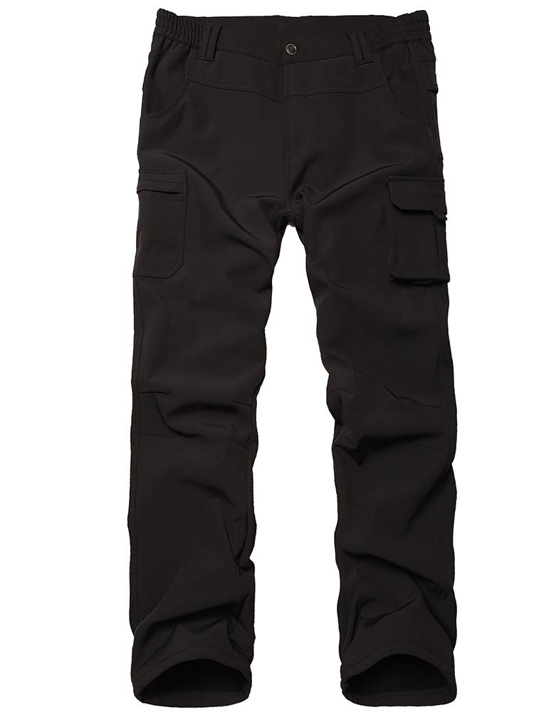 Toomett Boys Girls Waterproof Outdoor Hiking Pants Warm Fleece Lined,9020,Black S,8 Years by Toomett