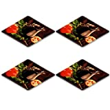 MSD Natural Rubber Square Coasters IMAGE ID: 7753401 Pomegranate juice in a jug still life