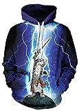 NEWCOSPLAY Unisex Hooded Sweatshirts 3D Printed(L/XL, Cat 1)