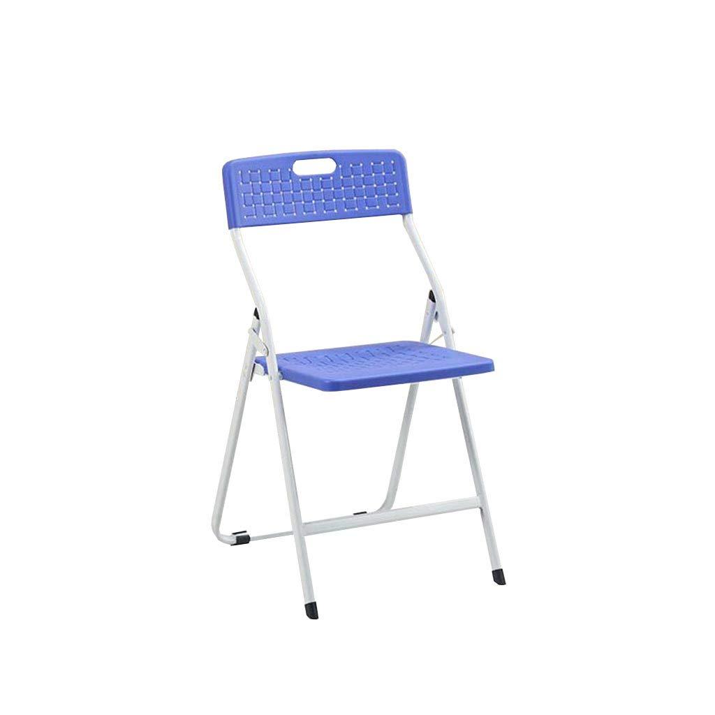 QZ HOME Stühle, Klappstuhl Sonnenliege Büro Mittagspause Stuhl Veranstaltungsort Aktivität Tragbar Liegestuhl 4 Farben (Farbe : Blau)