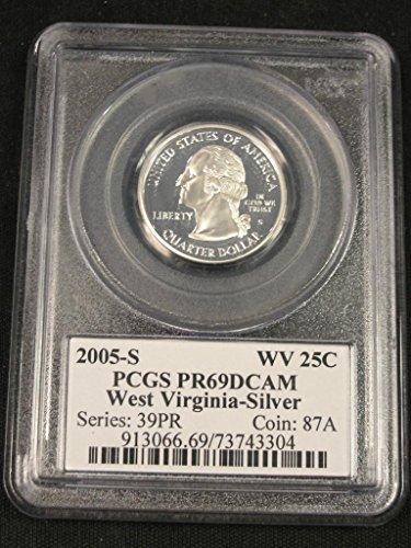 - 2005 S Commerative West Virginia Quarter PCGS PR69