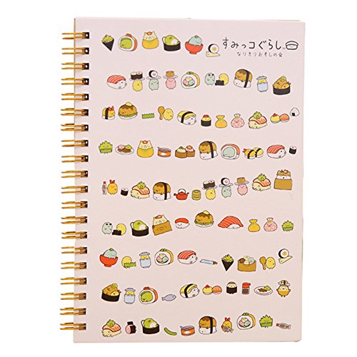 TOOGOO(R) Kawaii Japan cartoon Rilakkuma & Sumikkogurashi Coil notebook/Diary agenda/pocket book/office school supplies£¨Sushi£