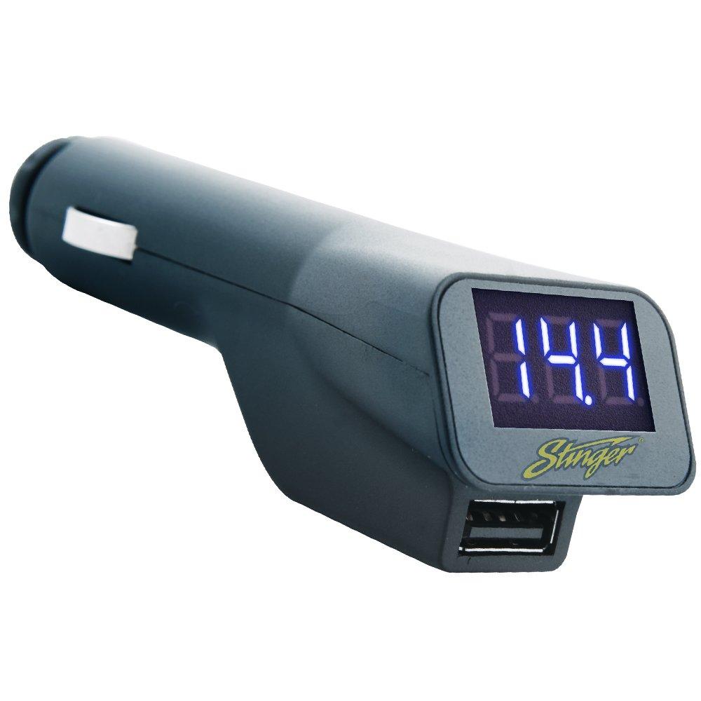 Stinger Sgp12 Digital Voltage Meter With Usb Charger Voltmeter Wiring Diagram Cell Phones Accessories