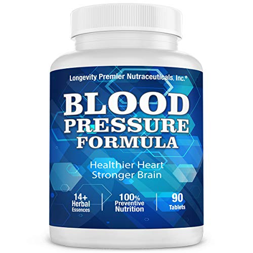 (Longevity Blood Pressure Formula [90 Tablets] -Scientifically formulated - with 10+ standardized Herbal extracts & L-Arginine. Best Blood Pressure)