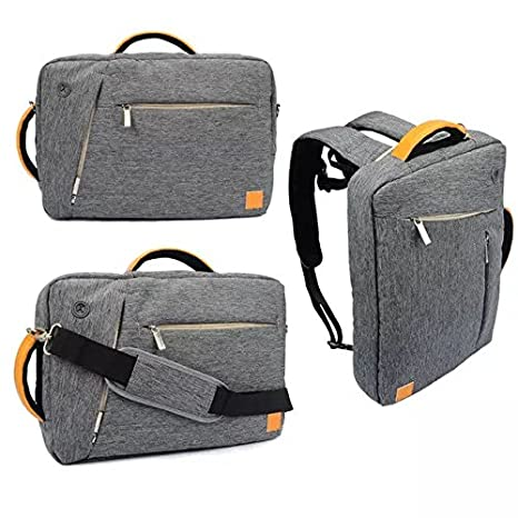 b6f72a0d321 Amazon.com: VanGoddy Grey Universal Hybrid Backpack / Briefcase / Messenger  / Tote, 4 in 1 Multifunction Laptop / Tablet Carrying Bag (15.6