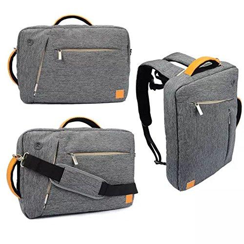 VanGoddy Grey Universal Hybrid Backpack / Briefcase / Messenger / Tote, 4 in 1 Multifunction Laptop / Tablet Carrying Bag (13.3