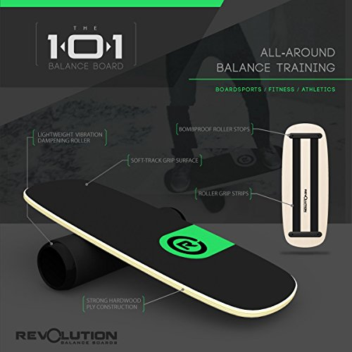 Revolution 101 Balance Board Trainer (Green) by Revolution Balance Boards (Image #2)