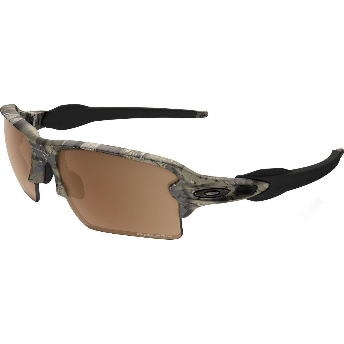 Oakley Mens Flak 2.0 XL Polarized Sunglasses, Desolve Bare Camo/Prizm Tungsten, One Size