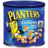 Planters-Cashews Halves/Pieces, 46 oz. canister (4 Pack) by Planters