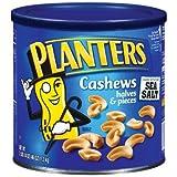 Planters-Cashews Halves/Pieces, 46 oz. canister (4 Pack) by Planters
