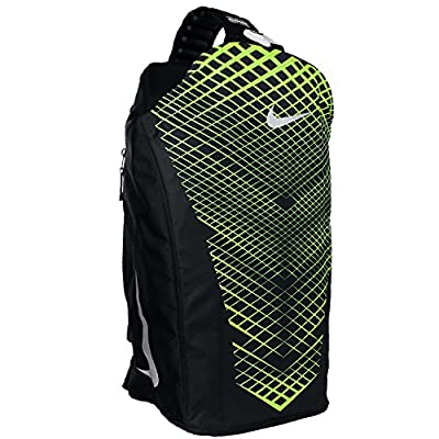 36d316529a30 free shipping Nike Vapor Max Air Training Duffel Bag Black Volt Gym ...