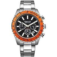Gigandet Men's Quartz Watch Chrono King Chronograph Analogue Silver Black G28-006