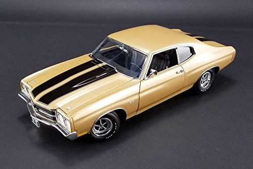 Chevy 1970 Chevelle SS 396, Gold - Acme 1805509 - 1/18 Scale Diecast Model Toy Car (1970 396 Chevelle Ss)