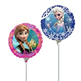 Disney Frozen Party Supplies Double Sided Sisters Anna and Elsa Mini Foil Balloon (Pack of 3)