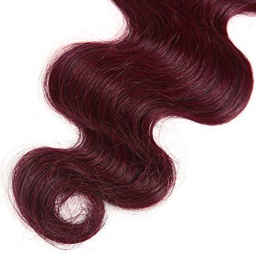 Extensiones de cabello virgen, brasileño y ondulado, humano ...