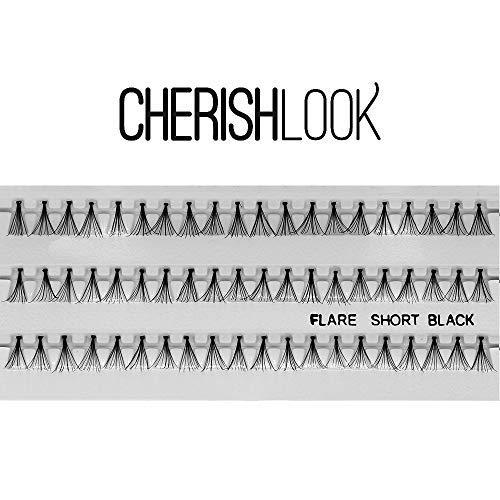 Cherishlook Professional 10packs Eyelashes - Flare Black (Short)