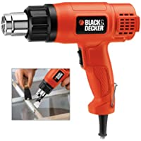 Black+Decker 1750W Corded 2 Mode Heat Gun for Stripping Paint, Varnishes & Adhesives, Orange/Black - KX1650-B5, 2 Years…
