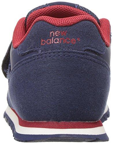 New Balance Boys' KV373 Hook and Loop Sneaker, Navy/Red, 10 Wide ...