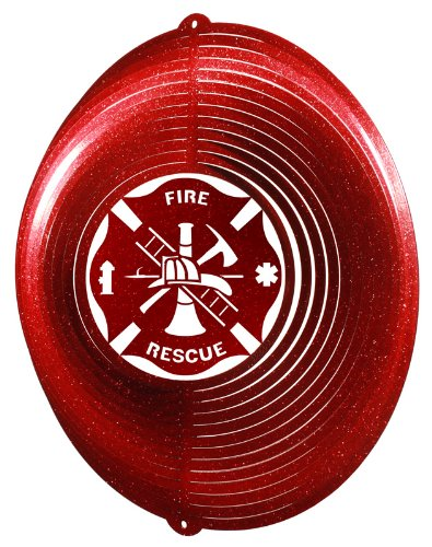 FIRE RESCUE CIRCLE Swirly Metal Wind Spinner