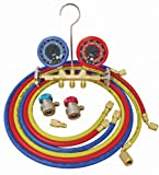 ATD Tools 3694 Dual Brass Deluxe A/C Manifold Gauge Set