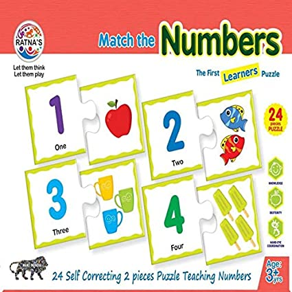 Buy Jaynil® Best Educational Match The Numbers Jigsaw Puzzle