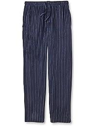 Men's Medium Microfleece Pajama Pants - Dress Blue Striped