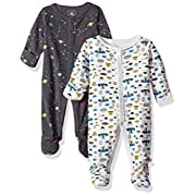 Rosie Pope Baby Boys Coveralls 2 Pack, Spaceship, 3-6 Months