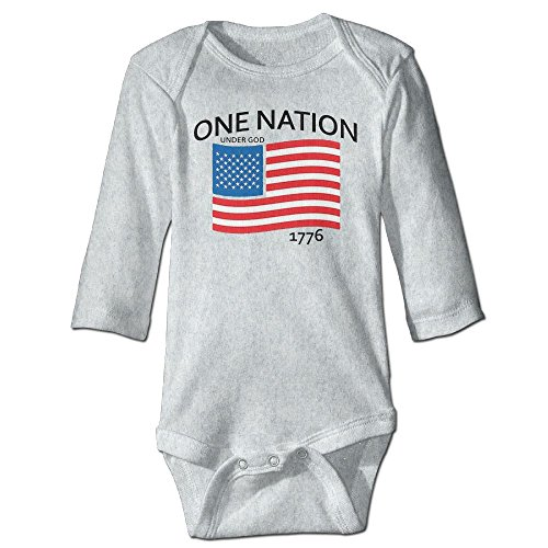 Richard Unisex Infant Bodysuits One Nation Under God Patriotic 4th Of July Girls Babysuit Long Sleeve Jumpsuit Sunsuit Outfit 18 Months - Diy July Fourth Of Shirt