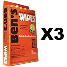 Adventure Medical Kits Ben's Tick & Insect Repellent Wipes Camp (3-Pack of 12)