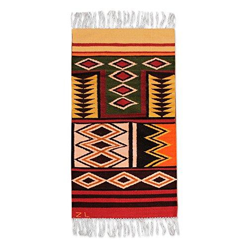 - NOVICA 157781 Sacred Valley' (2x5) Wool Runner, 2