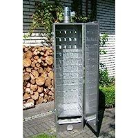 Smoki Räucherofen silber XXL Smoking Oven Garten ✔ eckig ✔ Grillen mit Holzkohle