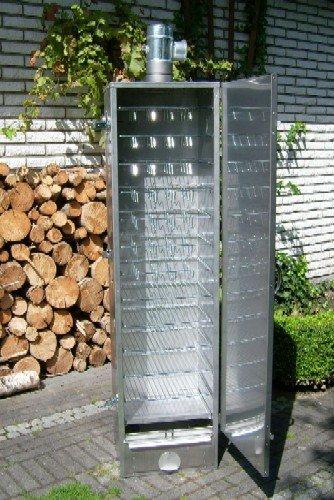 Isolierter Räucherofen 150x39x33cm aus V2A-Edelstahl