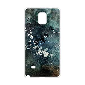 Creative Pattern White Phone Case for Samsung Galaxy Note4