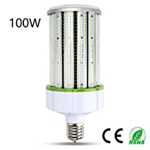 100 Watt E39 LED Corn Light Bulb Lamp - Lerlite 400w Equivalent Day White 11,400 Lumens Replacement for HID / HPS / Metal Halide or CFL, AC 100-265V Waterproof