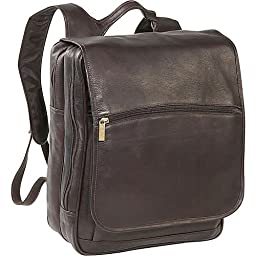 David King & Co. Large Computer Flapover Backpack, Cafe, One Size