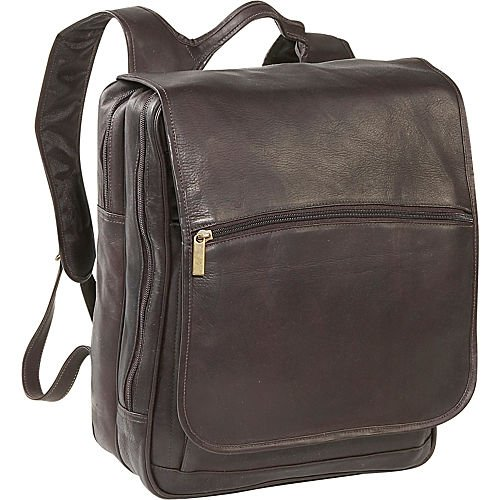 David King & Co. Large Computer Flapover Backpack, Cafe, One Size by David King & Co