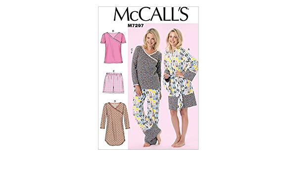 McCalls-... McCalls Ladies Easy Sewing Pattern 6659 Pyjamas /& Dressing Gown
