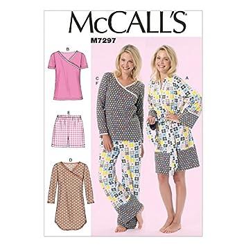 Unbekannt McCall \'s Damen Schnittmuster 7297 Bademantel, Nachthemd ...