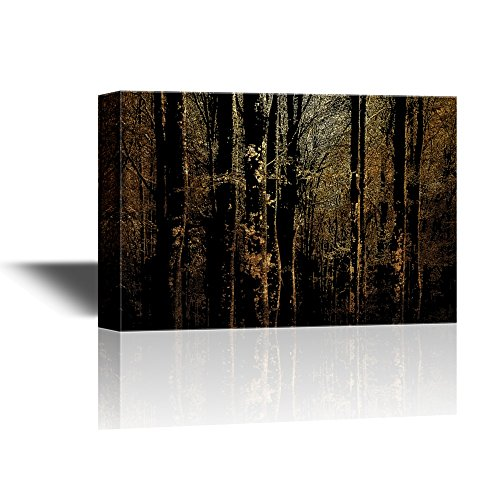 Abstract Landscape with Trees in the Forest in Summer Gallery