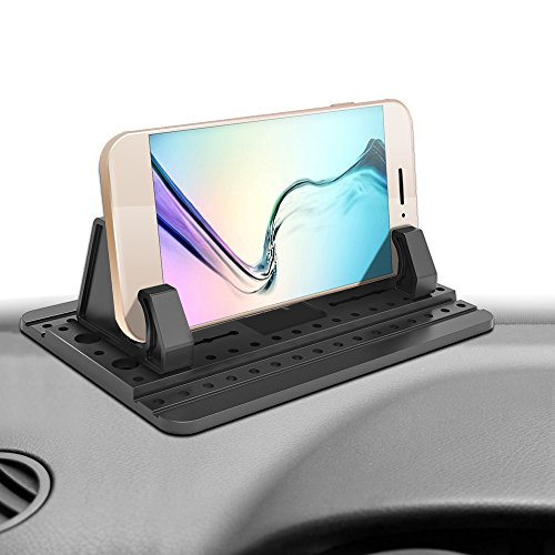 IPOW Car Pad with Sticky Gel Points 3rd Generation Universal Silicon Mat for Various Dashboards,Phone Mount Holder for iPhone X 8 8P 7 7P 6S 6 5S,Galaxy Note8 S8 S7 S6 S5,Tablet PC,GPS (Point Telephone)