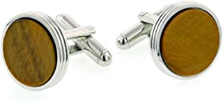 product image for JJ Weston Tigers Eye Cufflinks. Made in the USA.